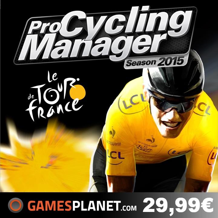 Bannière Gamesplanet pour Pro Cycling Manager 2015 au prix de seulement 29,99€