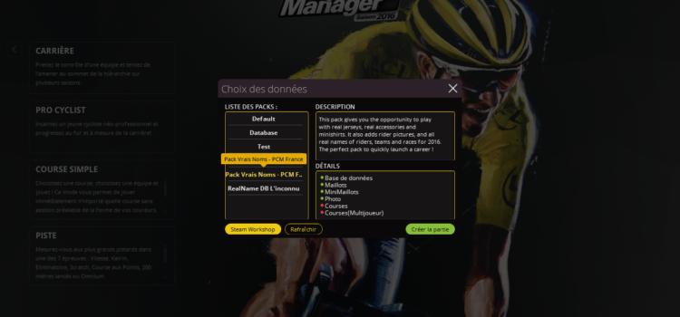 Les vrais noms sur Pro Cycling Manager 2016 avec le Pack PCM France !